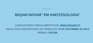 Prémio Biojam Inovar em Anestesiologia
